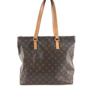 Louis Vuitton Cabas Mezzo Zip Top Work Tote